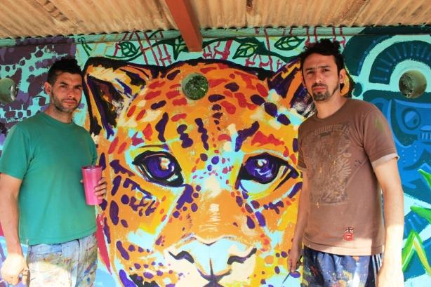 Mural Pablo Lorefice y Ariel Calo garita colectivo